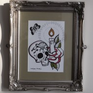 Candy Skulls – Original Framed Art