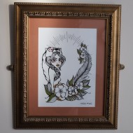 If you go down to the woods today – Original Framed Art