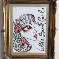 Little Bird Girl – Original Framed Art
