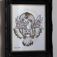 The Owl has the Key to my Heart – Original Framed Art